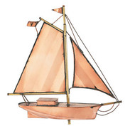 Weathervane - Small Polished Sloop