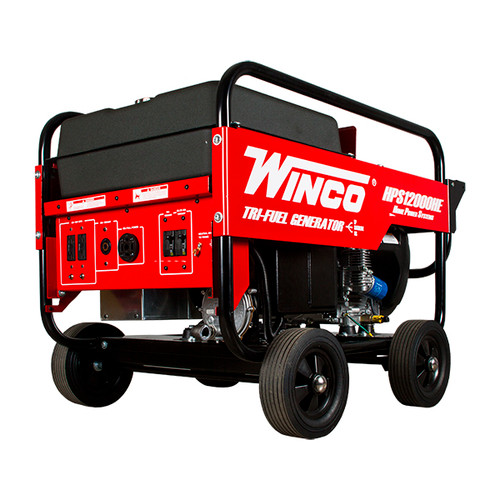 Winco HPS12000HE 10800W Electric Start Portable Tri Fuel Generator