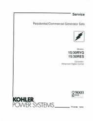 Kohler TP-6198 Diagnostic Repair Manual Download