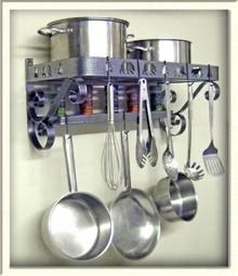Pot & Pan Rack French Style Bear Theme