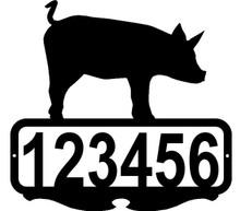 Pig Custom Address or Name Sign