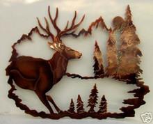 Mule Deer Buck Wildlife Decor Metal Wall Art