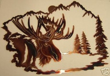 Moose Wilderness Metal Wall Art