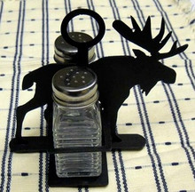 Moose Wilderness Salt & Pepper Shaker Holder