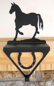 Horse Stocking Holder Christmas Decor Metal Art