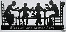 Family Blessings Metal Wall Art Word Sign