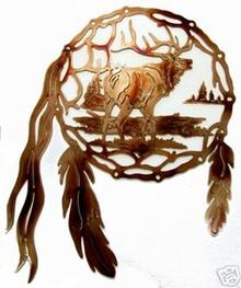 Elk Dream Catcher Metal Wall Art
