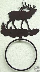 Elk Bull in Hills Towel Ring Wildlife Decor