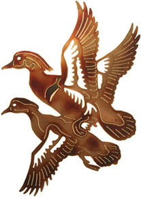 Ducks in Flight Woodland Metal Wall Art