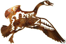 Canadian Goose in Flight Metal Wall Art