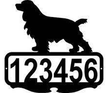 Cocker Spaniel Dog Custom Address Sign