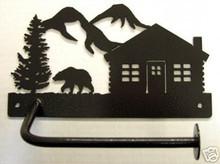 Cabin Wilderness with Bear Toilet Tissue Holder