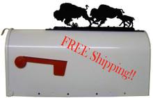 Buffalo Herd Mailbox Topper