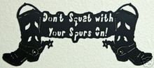 Boots and Spurs Western Decor Metal Art Sign