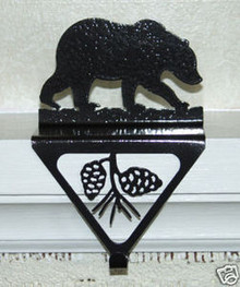 Bear Stocking Holder Christmas Decor Metal Art