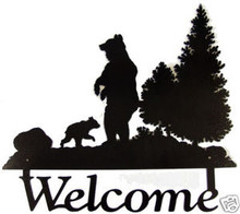Bear Lodge Decor Wilderness Welcome Sign