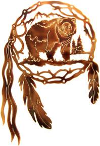 Bear Dream Catcher Metal Wall Art