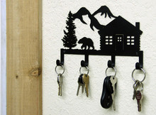 Bear Cabin Lodge Decor Key Holder