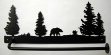 Bear in Trees  Paper Towel Holder Rustic Lodge Decor