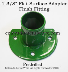 "Flat Surface Adapter Flush Fitting for 1-3/8"" tubing"