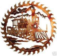 Train Railroad Saw Blade Metal Wall Art