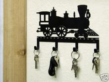 Train Engine Railroad Decor Key Holder