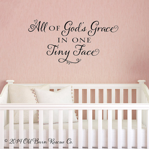 All of God's grace - wall decal