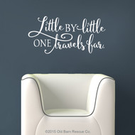 Little by little one travels far - wall decal
