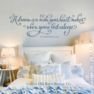 A dream is a wish your heart makes - wall decal