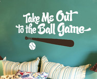 Baseball Wall Decals | Take Me Out To The Ball Game