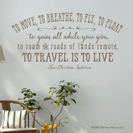 To move, to breathe - wall decal