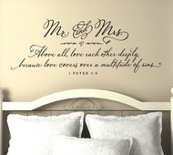 Inspiring Bible verses | Love each other deeply | Wall Decal