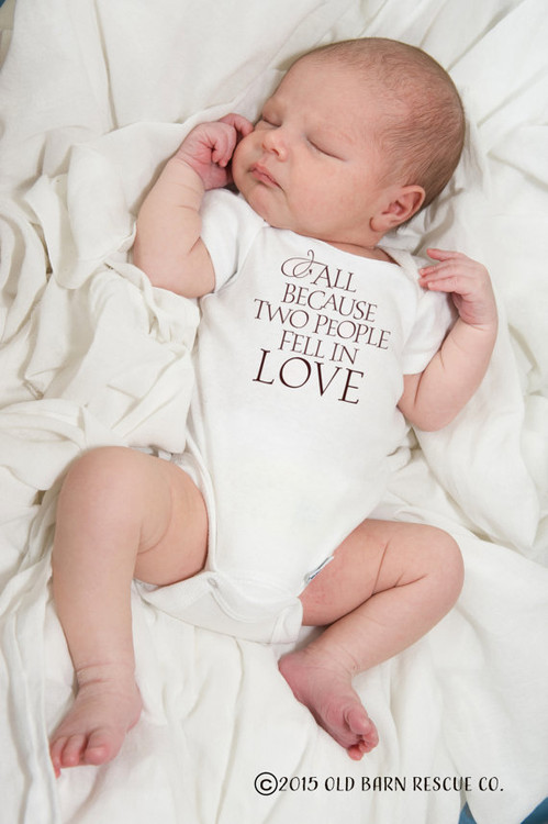 All Because Two People Fell in Love - Baby Onesie