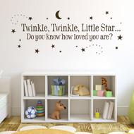 Twinkle Twinkle Little Star Wall Decal
