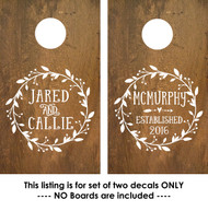 Corn Hole Decals