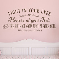 Girls room wall decor - light in your eyes