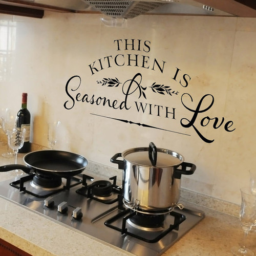 This kitchen is seasoned wall decal