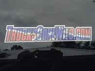 """TrucksGoneWild.com Rebel Flag 12"""" Sticker"""