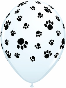 "11"" Qualatex Paw Prints Balloons 50 bag #76892"