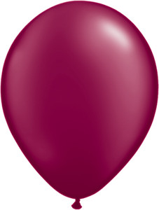 "11"" Qualatex Pearl Burgundy Latex Balloons 100ct #43769"