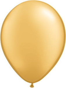 "11"" Qualatex Metallic Gold Latex Balloons 100ct #43749"