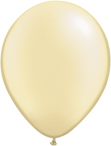 "11"" Qualatex Pearl Ivory Latex Balloons 100ct #43775"