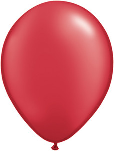 "11"" Qualatex Pearl Ruby Red Latex Balloons 100ct #43785"