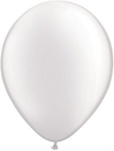 "11"" Qualatex Pearl White Latex Balloons 100ct #43788"