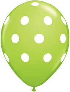 lime balloons polka dots