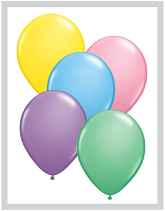 pastel color balloons