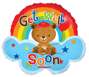 "14"" Mini Get Well Rainbow Shape 1ct"