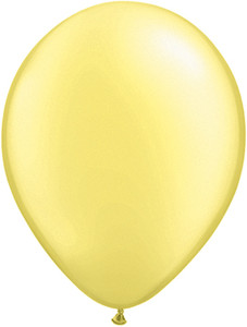 "16"" Qualatex Pearl Lemon Chiffon 50ct #43887"