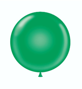 "17"" Tuf-Tex Green Latex Balloons 72ct #11704"