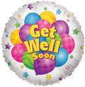 "18"" Get Well with Balloons 1ct #17569"